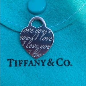 Tiffany's I Love You pendant silver 925